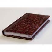 Записная книжка 74х130мм, Bruno Visconti Croco А6, кожзам, цвет в ассортименте, ст.1