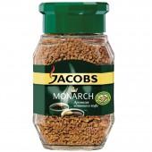 Кофе растворимый Jacobs Monarch, сублимированный, 190г, стеклянная банка, ст.1