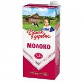 Молоко Домик в деревне 3,2% 0,95л ст.1