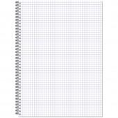 Тетрадь А4,  96л, клетка, спираль, Attache, обл.пластик, ст.1