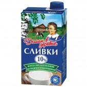 """Сливки """"Домик в Деревне"""", натуральные, жирность 10%, 480г"""