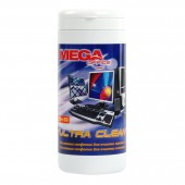 Салфетки чистящие ProMega Office Ultra Clean, вискоза, в тубе, 50 для экранов, 50 для пластика, ст.1