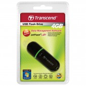 Флэш-память для хранения и переноса данных, 4Gb, Transcend JetFlash TS4GJF300 черный+зел, ст.1