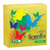 Салфетки Aster Fiorella, 1сл. 24*24, 75л, желтые, ст.6