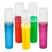 Пенал-тубус  Стамм, цилиндр, жесткий пластик, цвет неон в ассортименте, ст.1