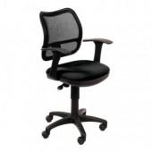 Кресло офисное ch-797, сетка, ткань, черное, ст.1