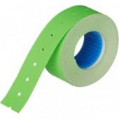 Этикет-лента 21х12, прямая, зеленая, 10 рул./уп.
