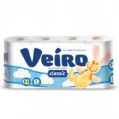 """Бумага туалетная """"Veiro"""" 2-слойная, белая, 8 рул./уп, ст.1"""