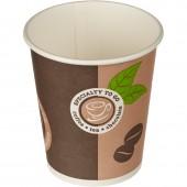 Стакан одноразовый бумажный двухслойный Coffee-to-Go,200мл для холодной и горячей воды, комб., 50 шт/уп