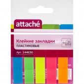 Липкие закладки пласт. 5цв.по 20л, Attache, 12ммх45, ст.1