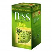 Чай зеленый Tess Lime, цедра лимона, лепестки лайма, фольг, 25пак/уп., ст.1