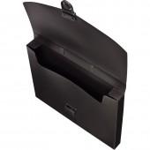Папка-портфель пластик, А4, Attache, черный, с замком, 240×317×30мм