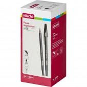 Ручка шариковая Attache Style, прорезин. корп., 0,5 мм