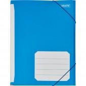 Папка на резинке, А4, 400г/м, мелованный картон, цветной, ст.1