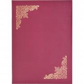 """Адресная папка """"Виньеткой"""", балакрон, красный шелк ст.1"""