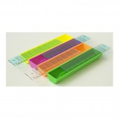Пенал без наполнения, Uni, 1отд, жесткий пластик, крышка-линейка, 22х5х2,5,   ст.10