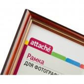 Рамка для сертификатов Attache 21*30см, деревянный багет, коньяк с золотом, 17мм, ст.1