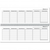 Планинг недатированный Attache Economy картон 56 листов в ассортименте (300х100 мм)