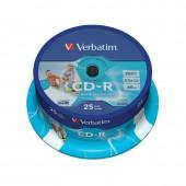Диск CD-R Verbatim Datalife+ Printable 700Mb 52x CB/25 (43439) 25шт/уп., ст.1