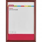 Рамка для сертификатов Attache 21*30см, деревянный багет фигурный, коньяк, лак, 14мм, ст.1