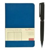 Ежедневник н/дат. А6, Br.V. Megapolis, синий , 85х127, 200л, ст. 1