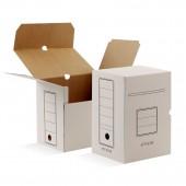 Папка-короб архивный Attache, белый гофрокартон