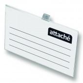 Бейдж Attache 90х60 мм, металлический зажим/ булавка, ст.50