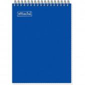 Блокнот А5,  80л, спираль, клетка, Attashe, синий, пластик., ст.1