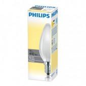 Лампа нак. 40Вт,  Е14, Philips, свеча матовая, ст.100