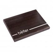Обложка для паспорта Befler O.1-1. Шик , нат.кожа, черный, ст.1