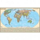"""Карта настенная """"Мира""""(полит), 160х100см , без рамки, ст.1"""