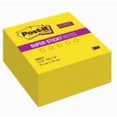 Липкие блоки 76х 76мм, Post-it, 3М, Super Sticky, неон желтый, 350л, арт.2028-S, ст.12