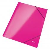 Папка на резинке Leitz WOW, А4, ламинир. картон, глянец