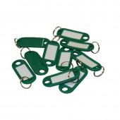 Брелоки для ключей, 10 шт./уп., зелёные, ст.1