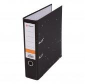 Папка-регистратор Lamark (Sponsor), А4, черн. мрамор, метал. окант., карман, реестр (50, 75 мм)