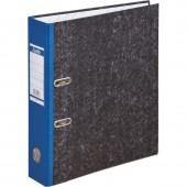 Папка-регистратор Bаntex, А4, картон, черный мрамор, цветной корешок, карман, 75 мм