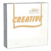 Салфетки Aster Creative, 3сл. 25*25, 20л, белые, ст.15