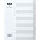 Разделитель А4, пластик, 12 листов, по месяцам, Attache, ст.1