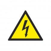 Информационная табличка «Опасность поражения эл.током» (плёнка ПВХ, 200×200) ст.1