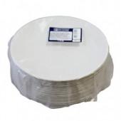Тарелка одноразовая, картон, d=17см, круглая, 100 шт/уп, ст.1