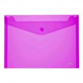 Папка-конверт на кнопке Index, А4, пластик, прозрачная