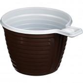 Чашка кофейная одноразовая (коричневая) 0,18л, 50шт/уп, ст.1
