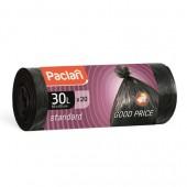 Пакеты для мусора,  30л, 20шт/рул , ПНД, Paclan Standart, 7,3 мкм, ст.80