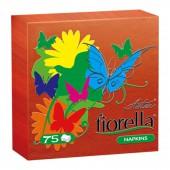 Салфетки Aster Fiorella, 1сл. 24*24, 75л, красные, ст.6