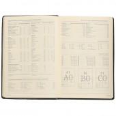 Ежедневник н/дат. А5, Br.V. Megapolis, черный, к/зам, 144х215, ст.1