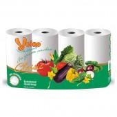 """Полотенца бумажные рулонные """"Veiro Classic"""", 2-слойные, белые, 4шт/уп, ст.6"""