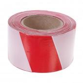 Лента оградительная красно-белая 75мм х250м, ст.1