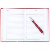Ежедневник н/дат. А5, Attache Сиам, красный, 143х210, 176л, ст.1