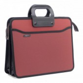 Папка-портфель пластик, А4+,4 отд., 390х320 мм, усилен. ручка