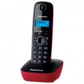 Радиотелефон Panasonic KX-TG1611RUR(красный), АОН, русс.меню